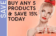 Buy any 5 save 15% today
