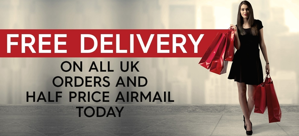 Free UK delivery and half-price airmail this weekend