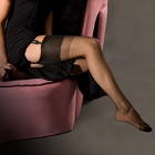 Caresse slingback sheer heel 100% nylon stockings - PERFECTS