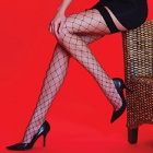Scarlet Whale Net stockings