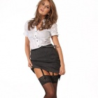 Super Shine lace top stockings