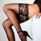Passion 20 deep lace top hold-ups