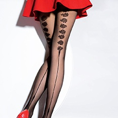 Fiore Tacoma 20 denier rose backseam tights