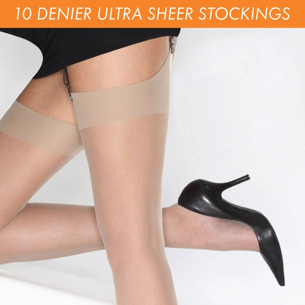 Cindy 10 denier ultra-sheer stockings