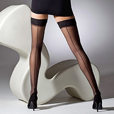 1054 cuban heel seamed hold-ups