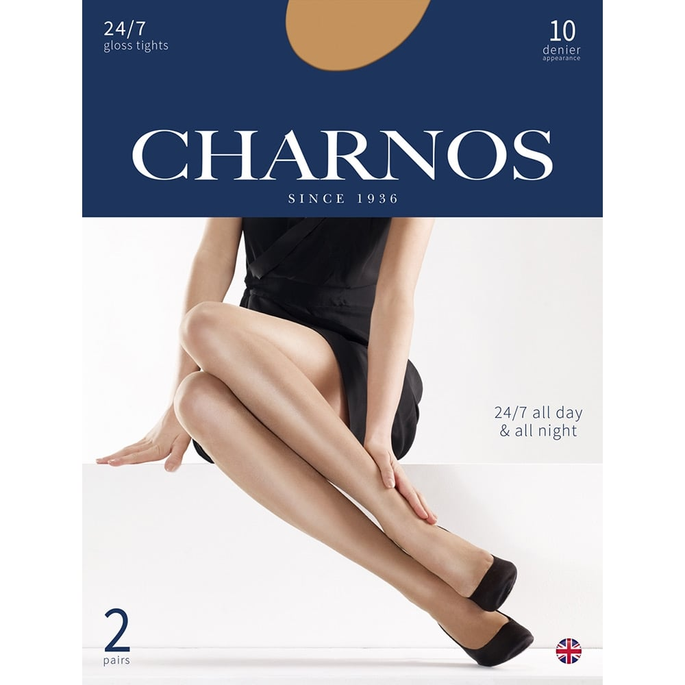 Charnos 24/7 gloss tights - 2 pair pack