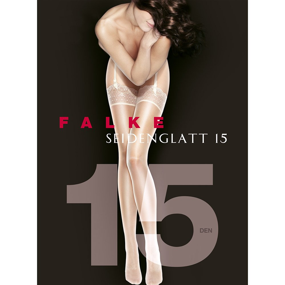 Falke 41511 Seidenglatt 15 luxury lace top stockings
