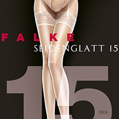 41511 Seidenglatt 15 luxury lace top stockings