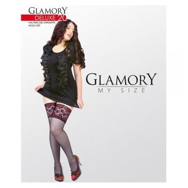Glamory 50111 Deluxe 20 contrast lace hold-ups