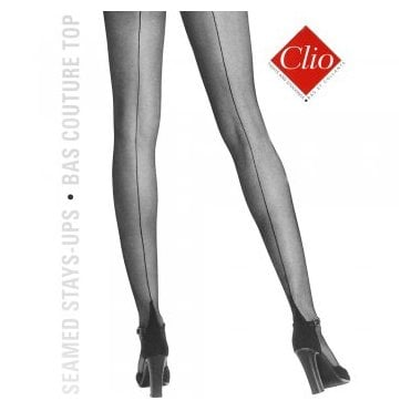 Clio 653 Bas Top stretch seamed hold-ups