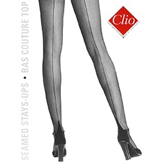 653 Bas Top stretch seamed hold-ups