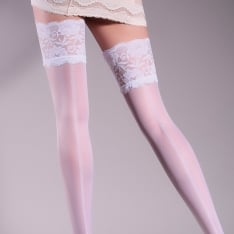 Giulia Allure model 14 patterned backseam lace top hold-ups