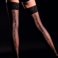 Giulia Allure 20 model 2 pattern backseam lace top hold-ups