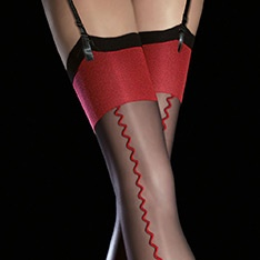 Anais contrast seam stockings
