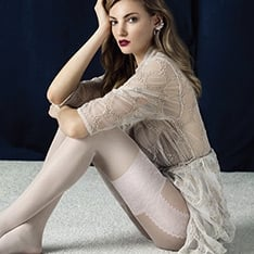 Angel faux suspender tights