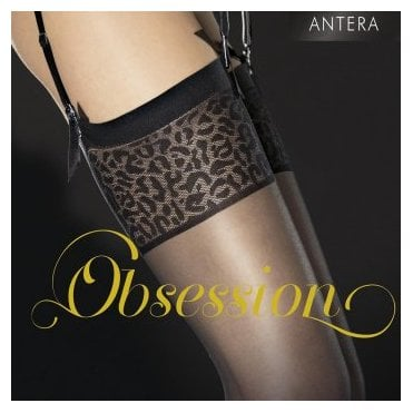 Fiore Antera leopard top stockings