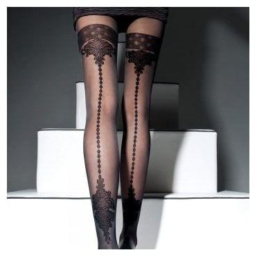 Fiore Apriel faux hold-up tights