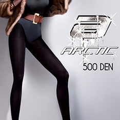 Arctic Collant 500 denier fleecy opaque tights