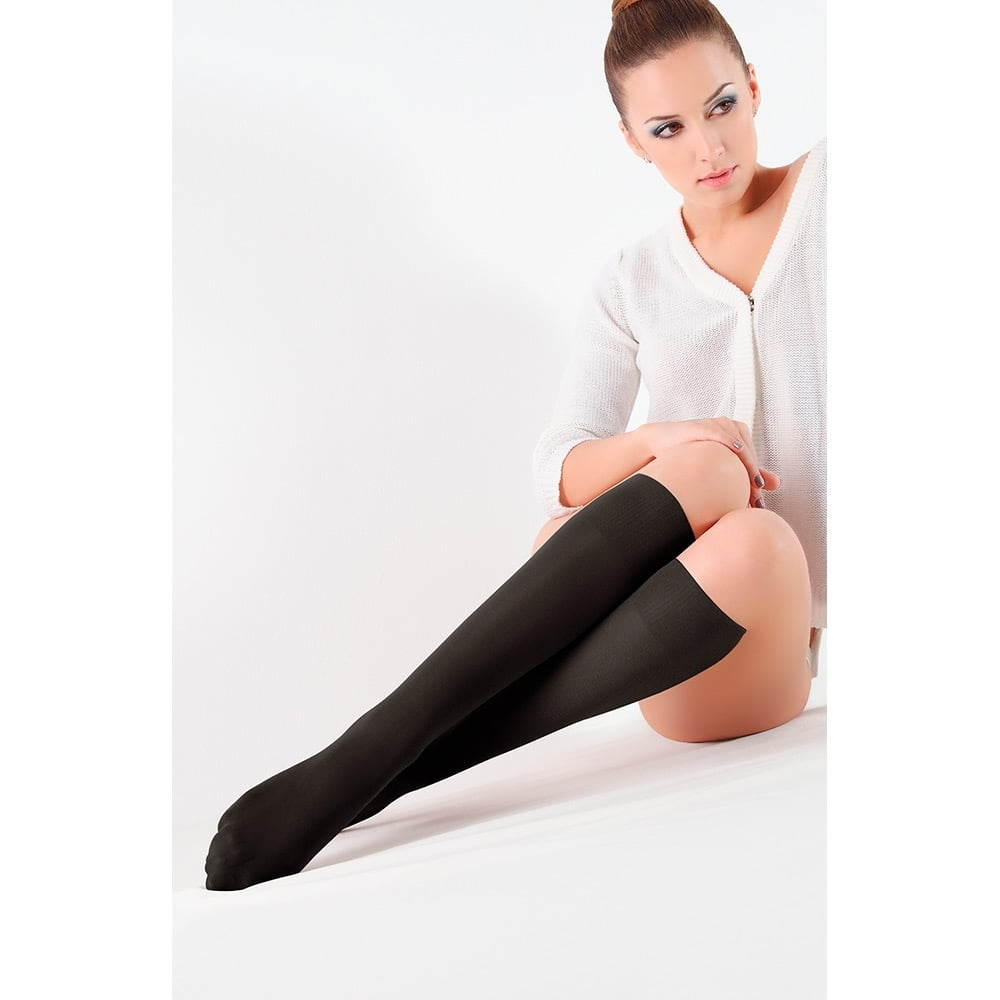 Giulia Blues 50 gambaletto 3D microfibre opaque knee highs