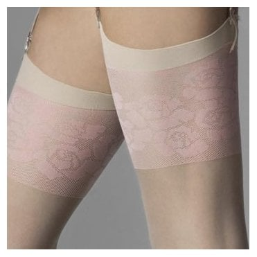 Fiore Blush pink flower stockings