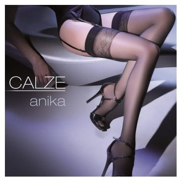 Gabriella Calze Anika diamond top sheer stockings