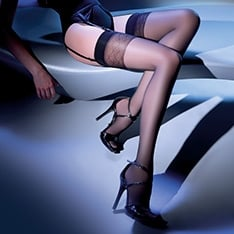 Calze Anika diamond top sheer stockings