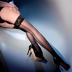 Calze Linette seamed hold-ups