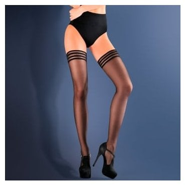 Gabriella Calze Lux concentric band hold-ups