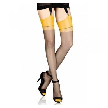 Cervin Capri Bicolore non-stretch RHT stockings