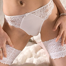 Capri side lace panel string brief