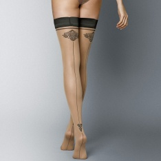 Veneziana Carmine 20 backseam sheer hold-ups