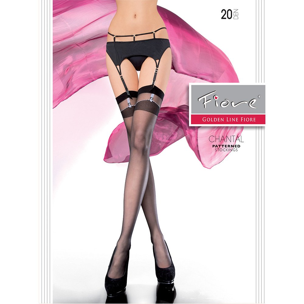 Fiore Chantal dual-top patterned stockings