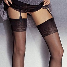 Chantal Girardi Signature logo stockings