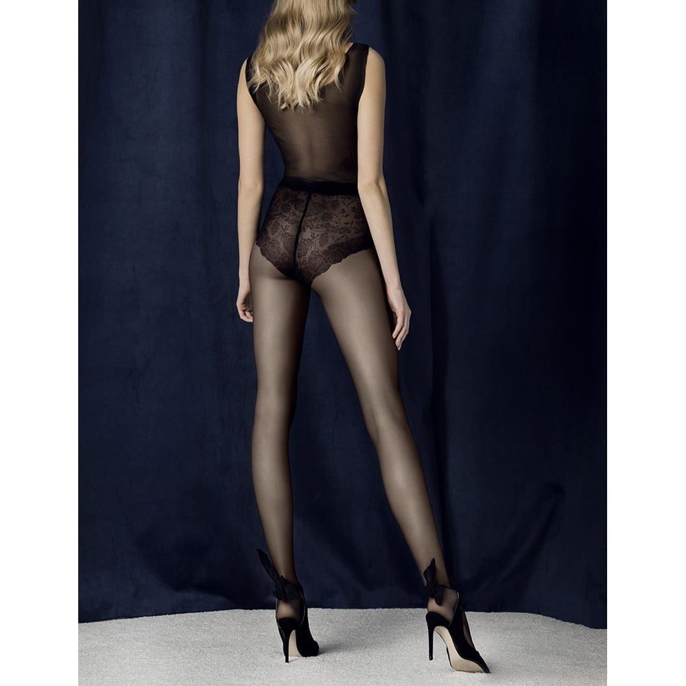 Fiore Charm floral brief tights