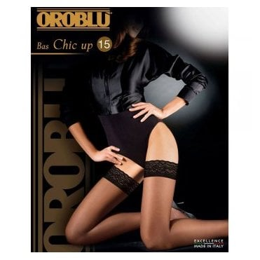 Oroblu Chic Up 15 hold-ups with floral lace top