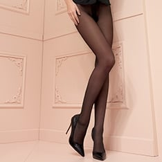 Christine 30 denier double-covered support tights