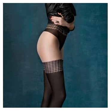 Fiore City Girl opaque faux hold-up tights