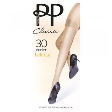 Pretty Polly Classic 100% Nylon 30 denier hold-ups