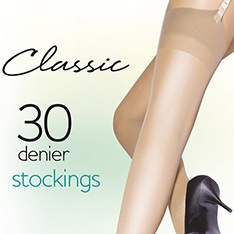 Classic 100% Nylon 30 denier stockings