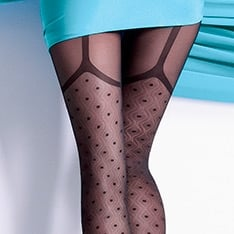 Collette 40 model 1 faux suspender tights