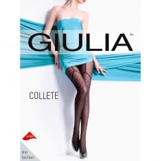 Giulia Collette 40 model 1 faux suspender tights