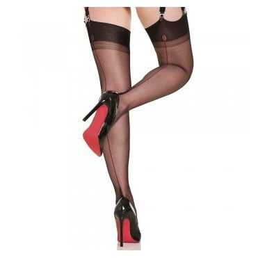 Gio contrast seam fully fashioned stockings - SIZE 12.5 - RARE