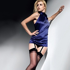 Cristal satin finish stockings
