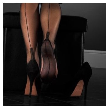 Eleganti Cuban heel FF stockings - PLAIN COLOUR - SECONDS