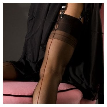 Eleganti Cuban Heel fully fashioned stockings - CONTRAST SEAM - PERFECTS