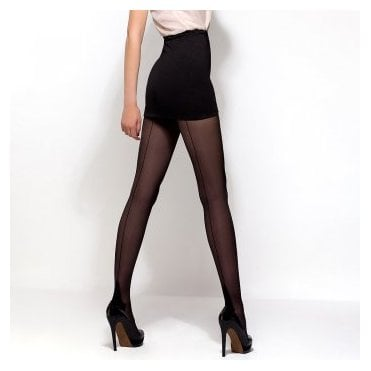 Mona Delice nero 20 seamed tights