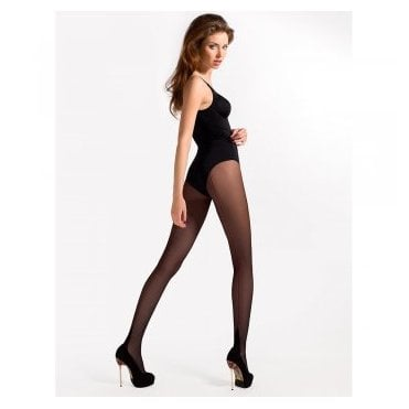 Mona Delice Red 20 contrast seamed tights