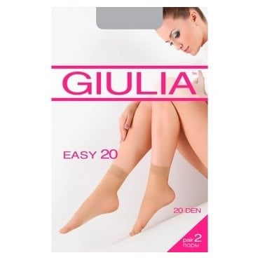 Giulia Easy 20 ankle highs - 2 pair pack