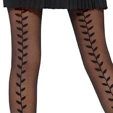 Elegance decorative backseam tights