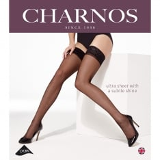 Charnos Elegance ultra-sheer lace top hold-ups